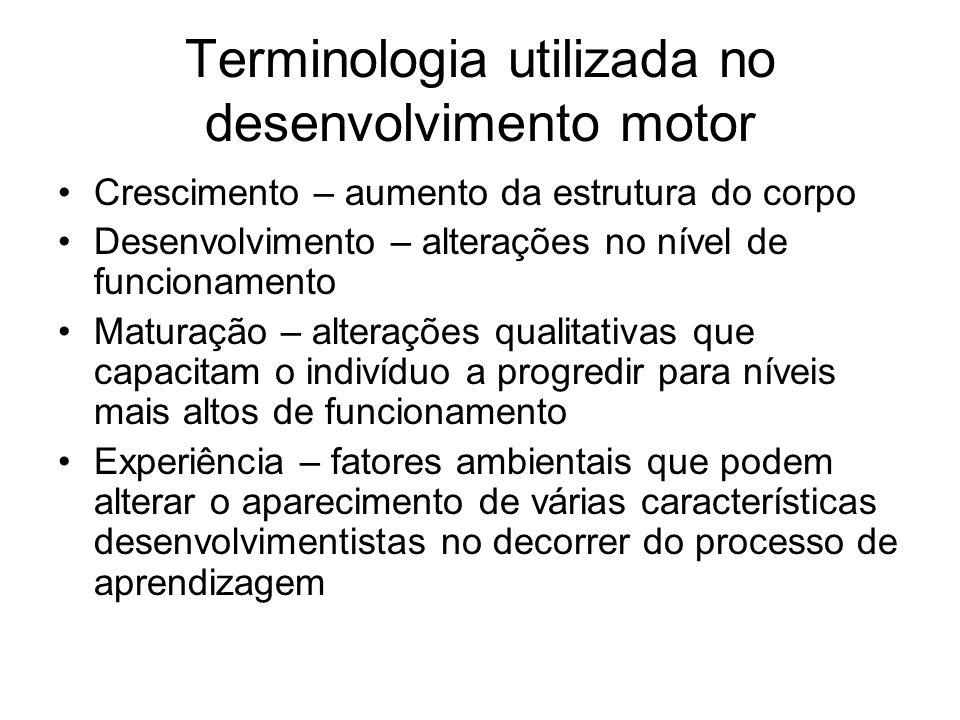 Terminologia utilizada no desenvolvimento motor