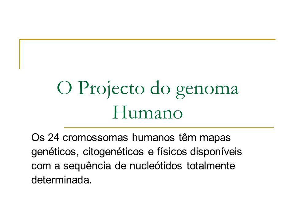 O Projecto do genoma Humano