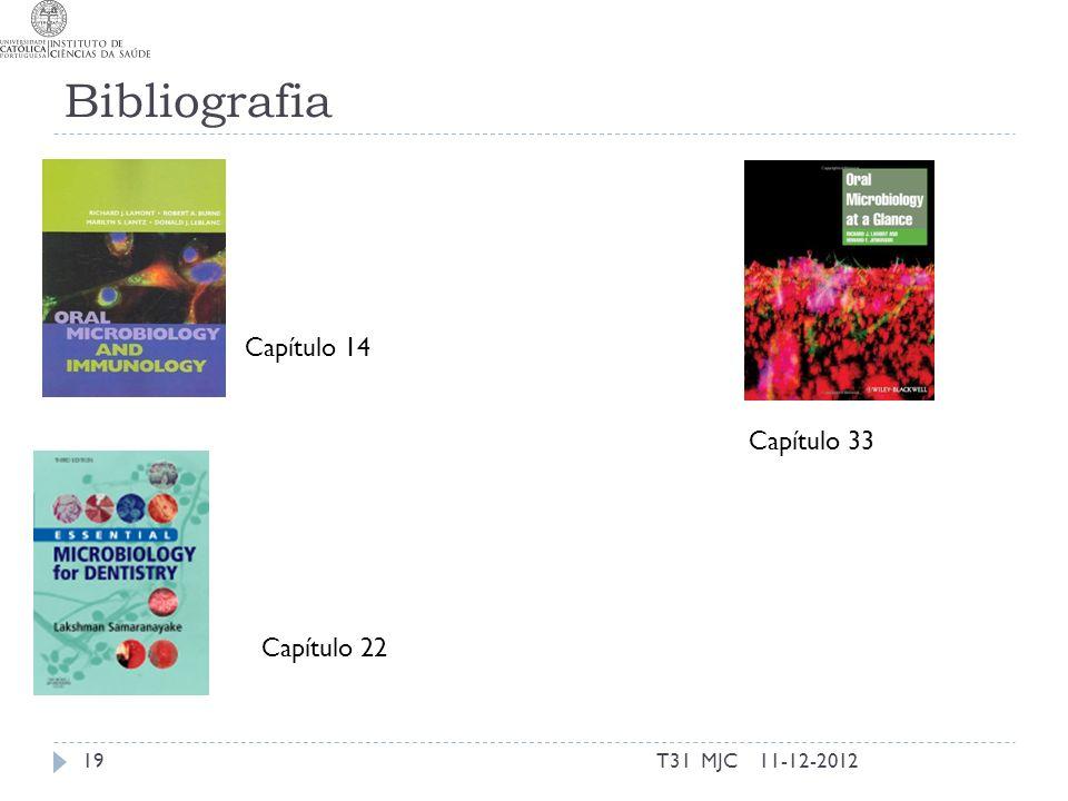 Bibliografia Capítulo 14 Capítulo 33 Capítulo 22 T31 MJC 11-12-2012