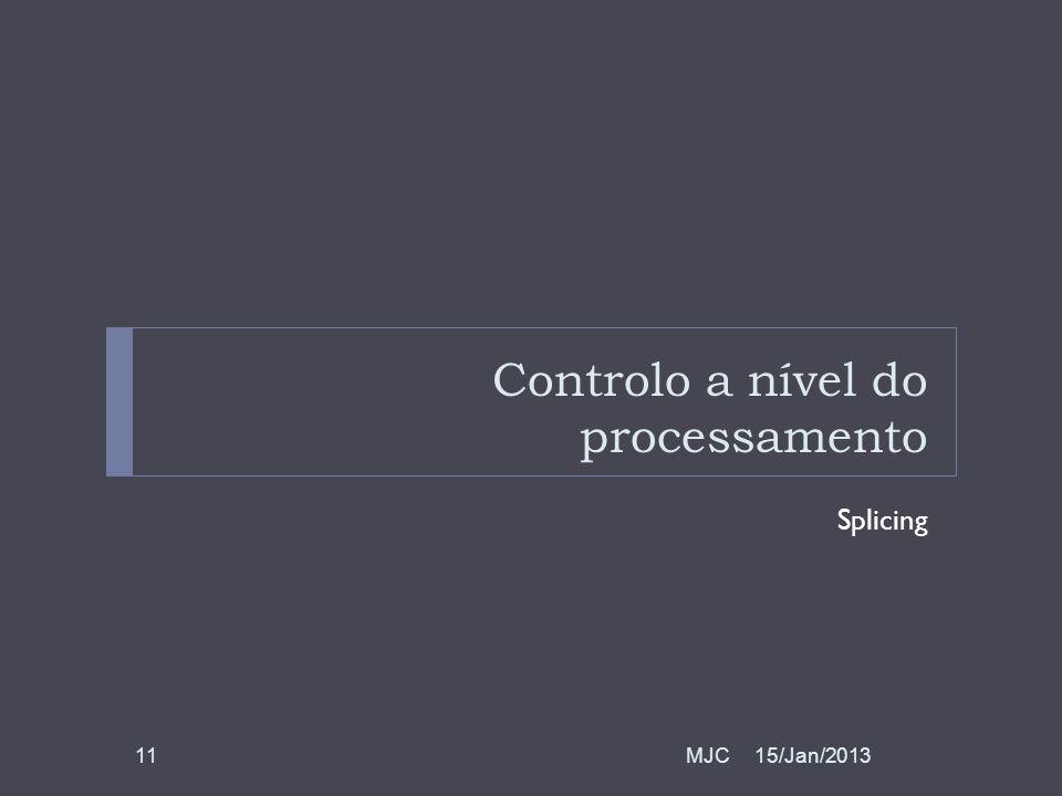 Controlo a nível do processamento