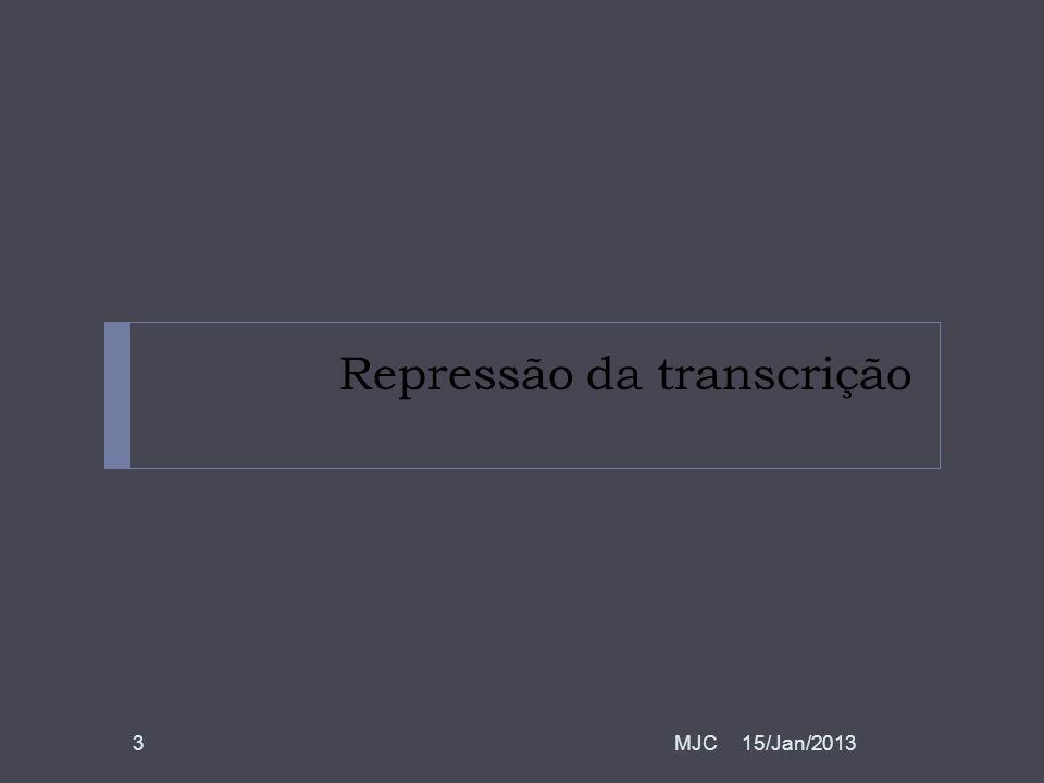 Repressão da transcrição