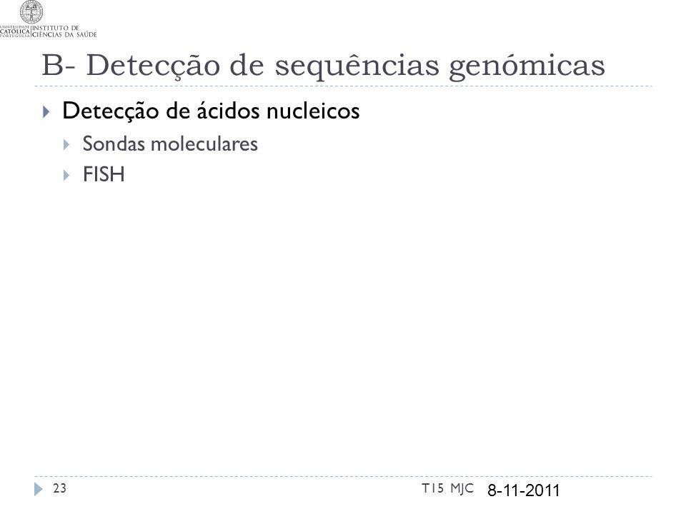 B- Detecção de sequências genómicas