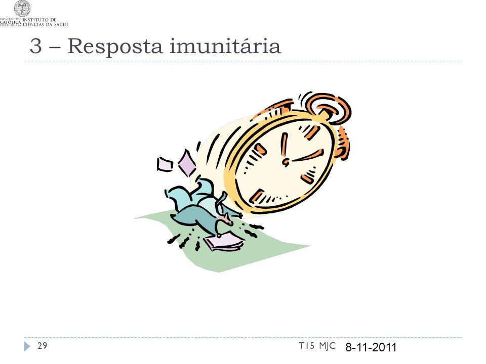 3 – Resposta imunitária T15 MJC 8-11-2011