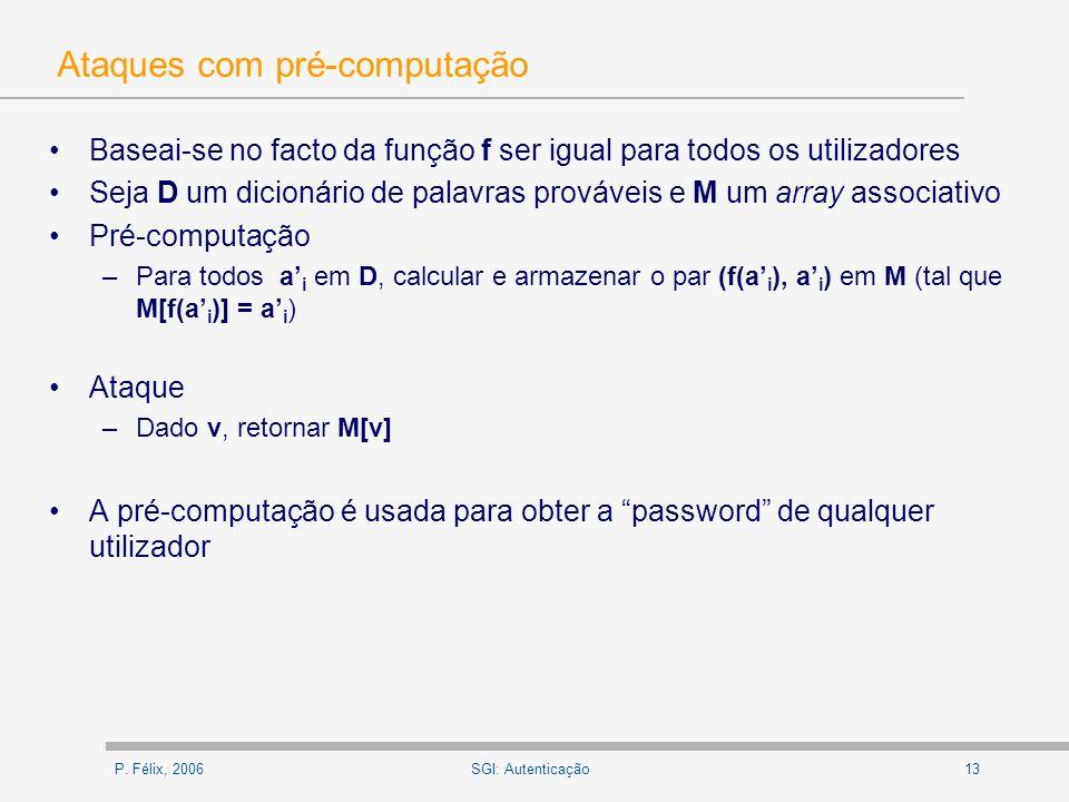 Ataques com pré-computação
