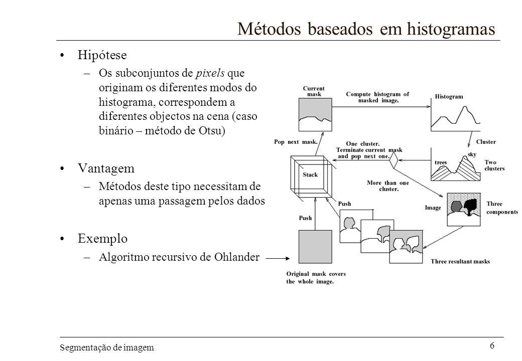 Métodos baseados em histogramas