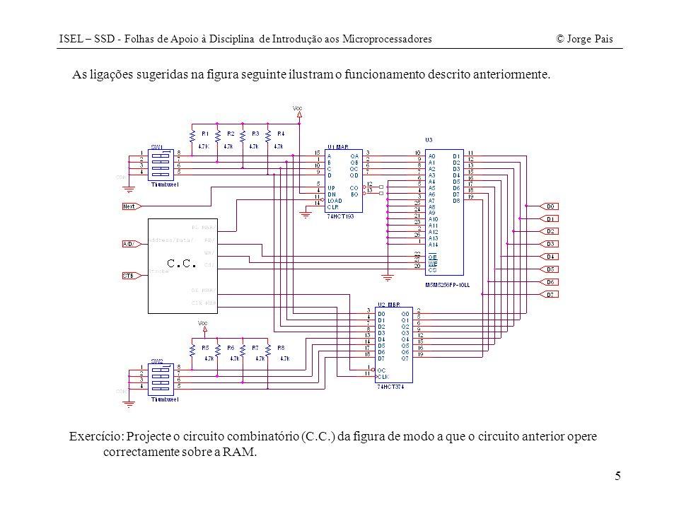 As ligações sugeridas na figura seguinte ilustram o funcionamento descrito anteriormente.