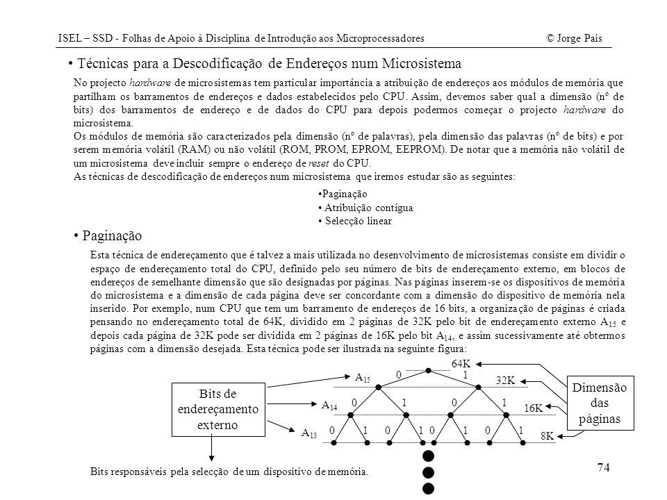 Técnicas para a Descodificação de Endereços num Microsistema