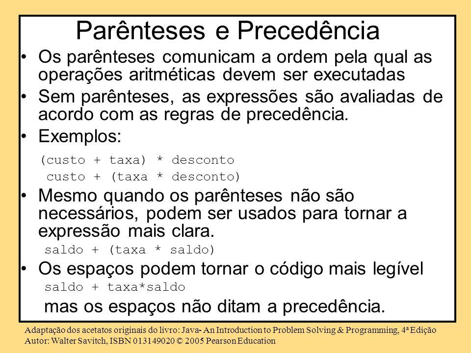 Parênteses e Precedência
