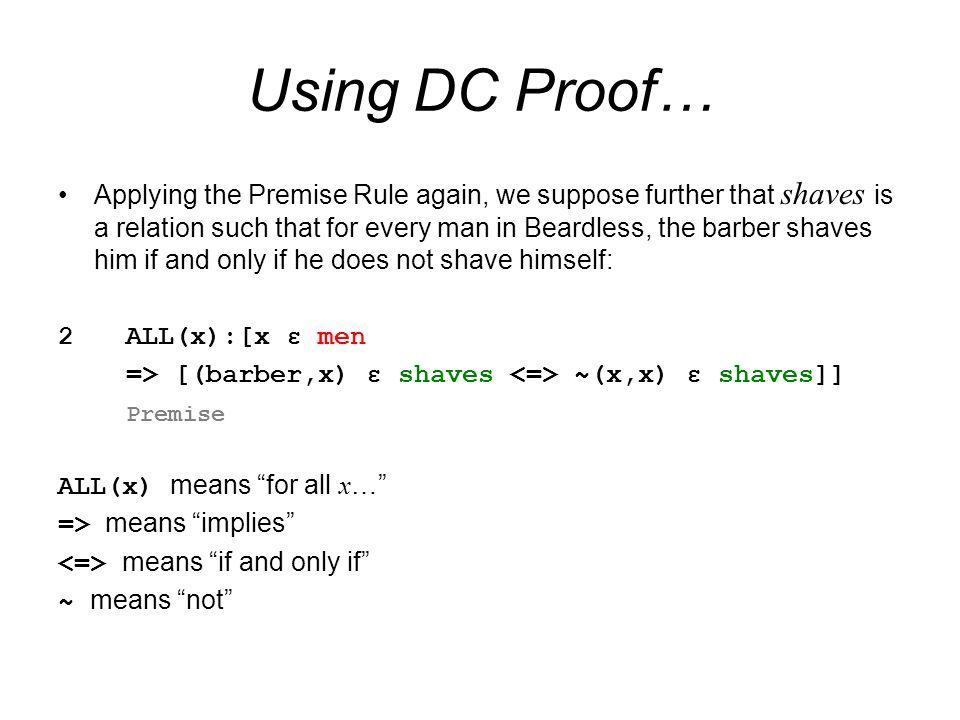 Using DC Proof…