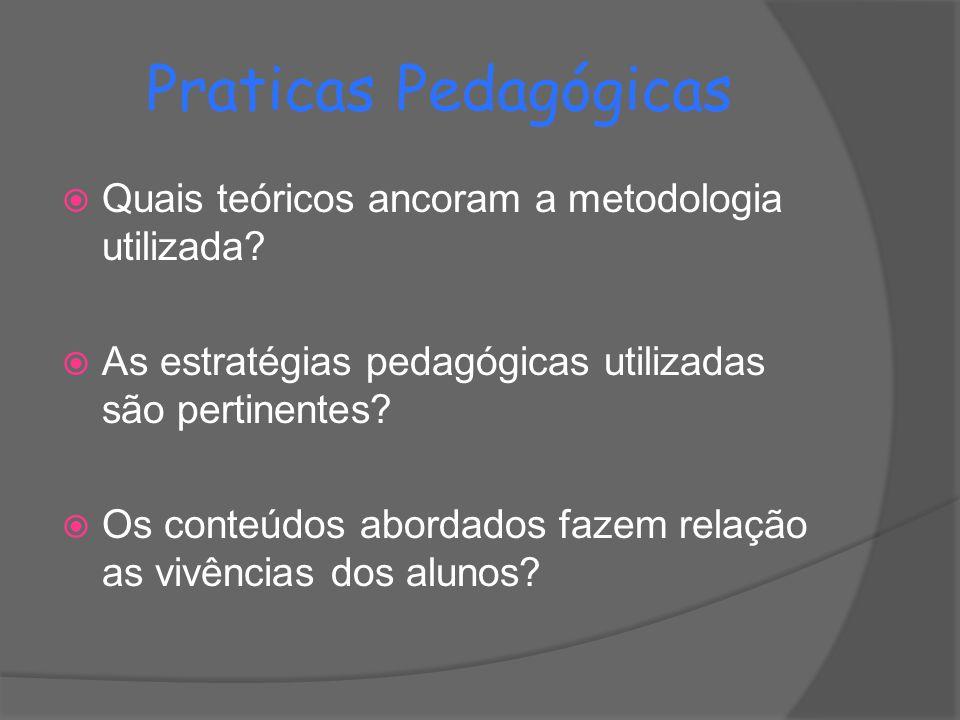 Praticas Pedagógicas Quais teóricos ancoram a metodologia utilizada