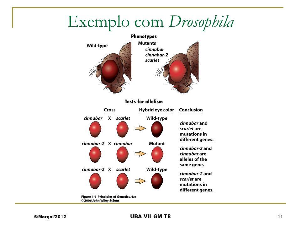 Exemplo com Drosophila