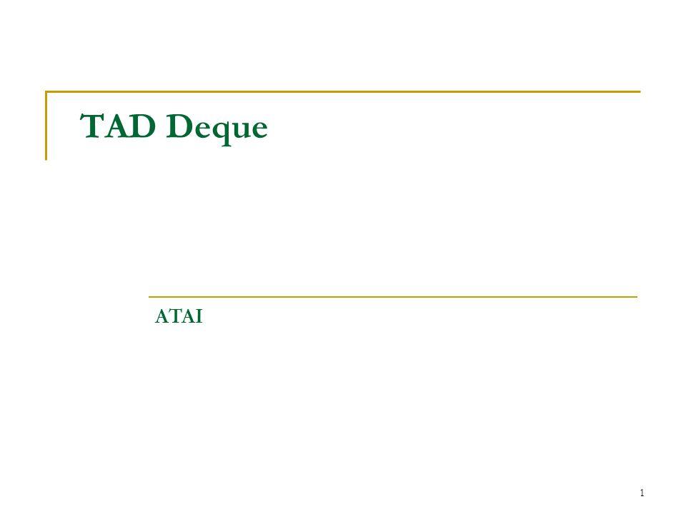 TAD Deque ATAI