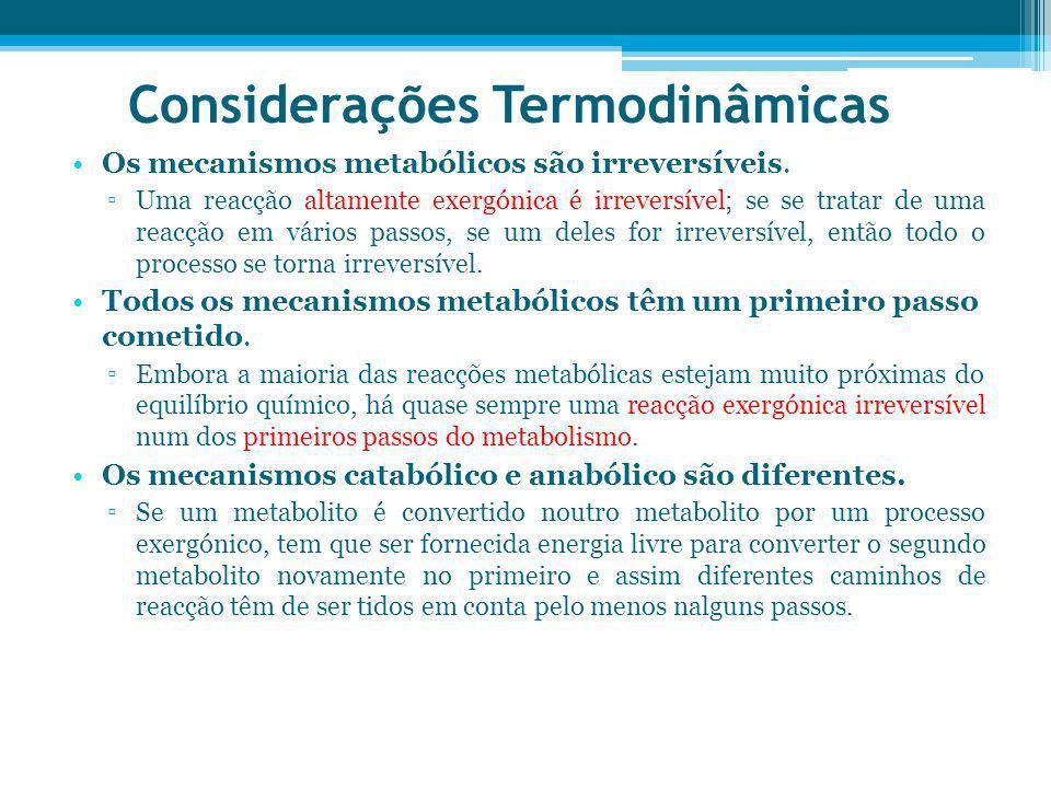 Considerações Termodinâmicas