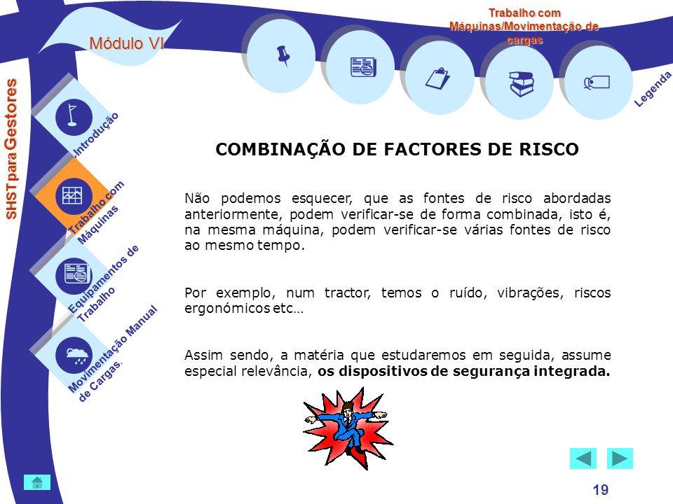         Módulo VI COMBINAÇÃO DE FACTORES DE RISCO 19 
