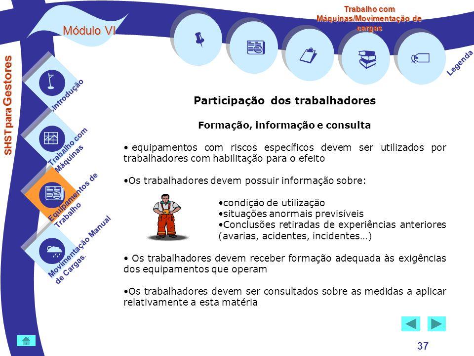         Módulo VI Participação dos trabalhadores 37 