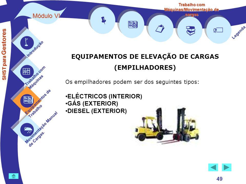         Módulo VI EQUIPAMENTOS DE ELEVAÇÃO DE CARGAS