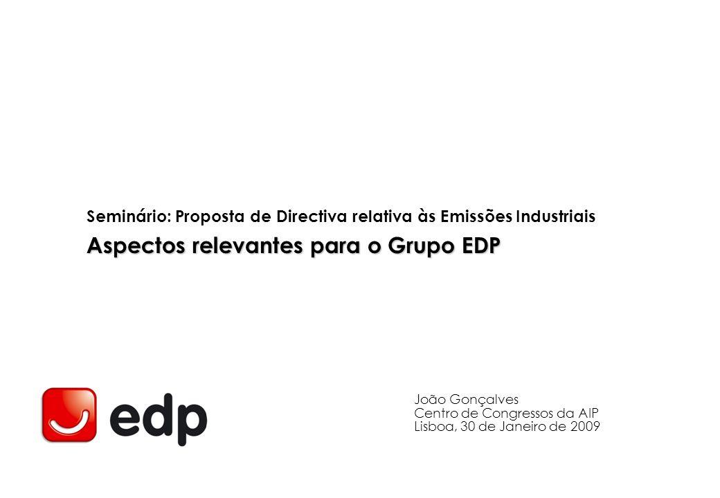 Aspectos relevantes para o Grupo EDP
