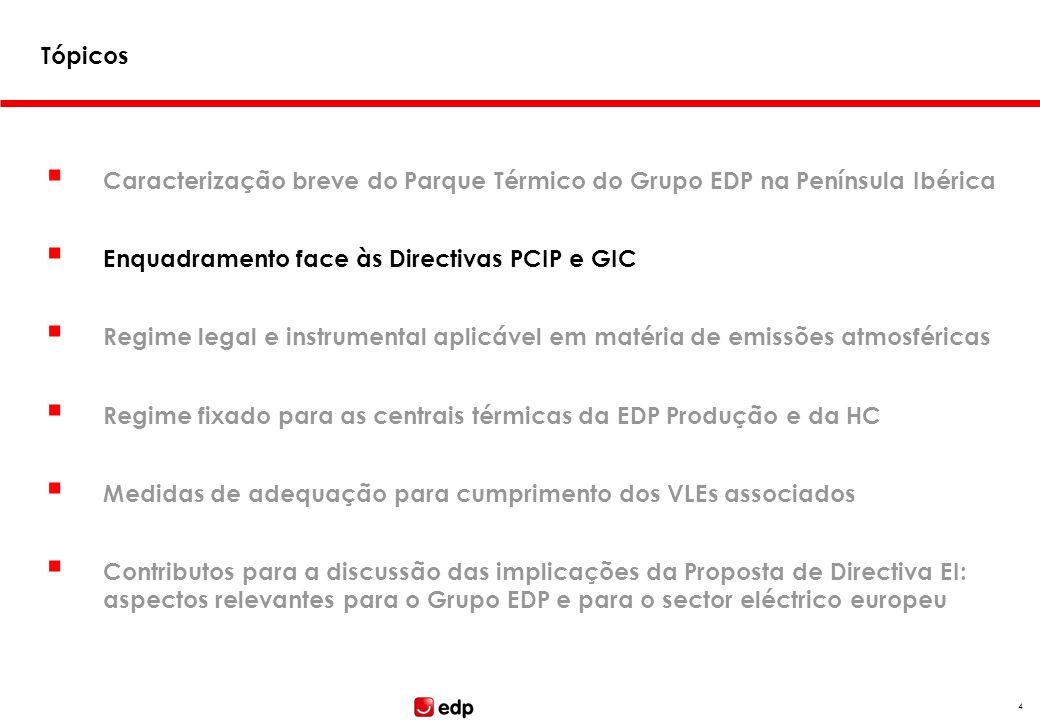Enquadramento face às Directivas PCIP e GIC