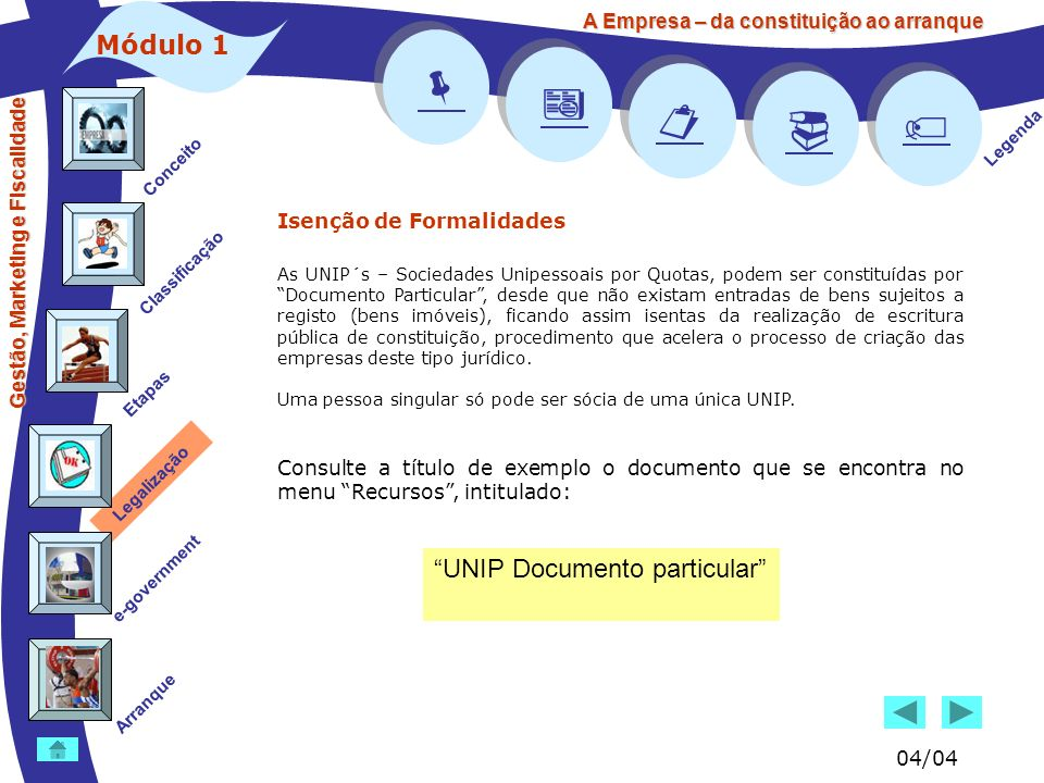     Módulo 1 UNIP Documento particular