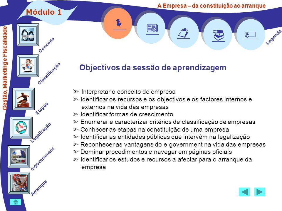     Objectivos da sessão de aprendizagem Módulo 1