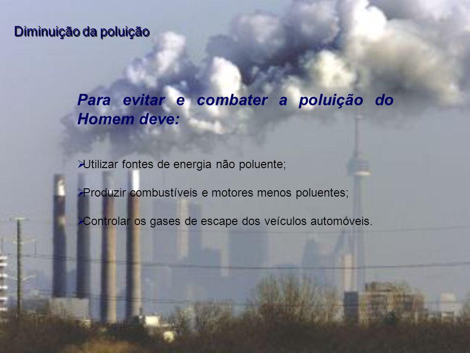 Para evitar e combater a poluição do Homem deve: