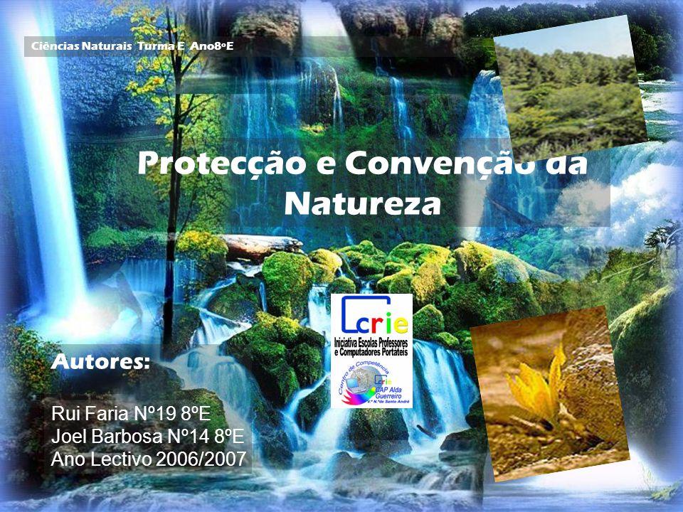 Protecção e Convenção da Natureza