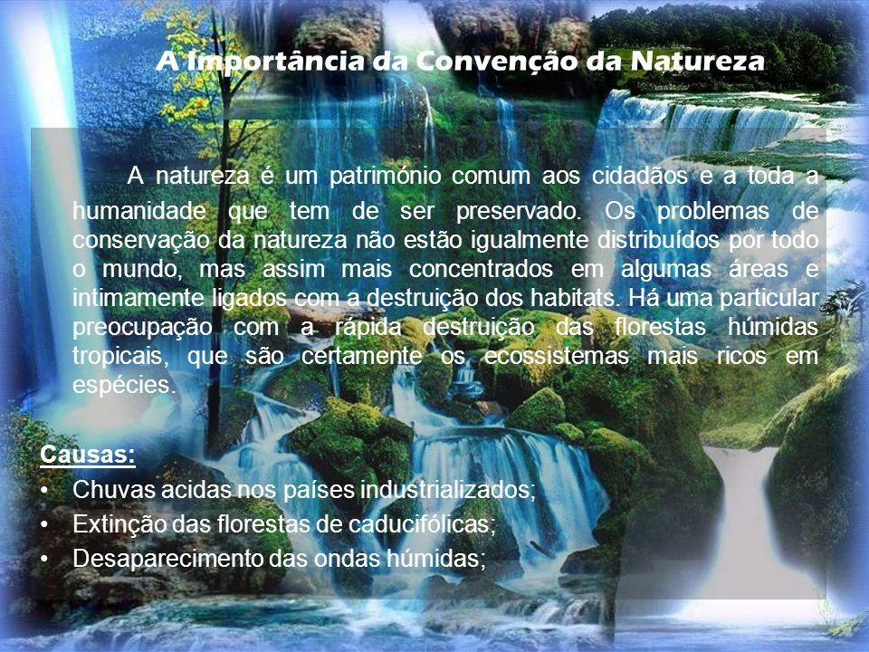 A Importância da Convenção da Natureza