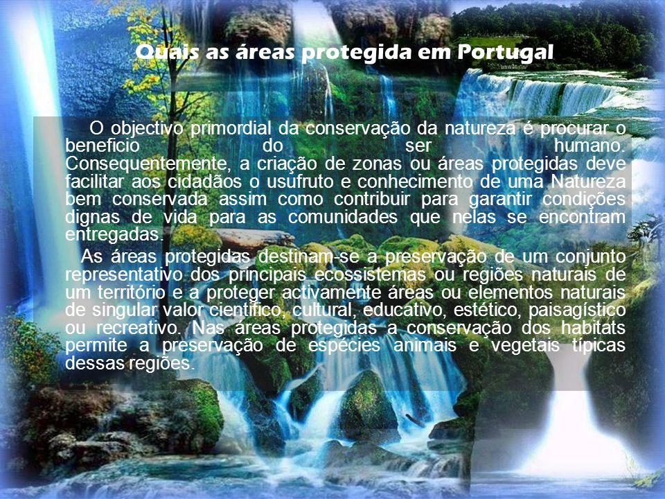 Quais as áreas protegida em Portugal