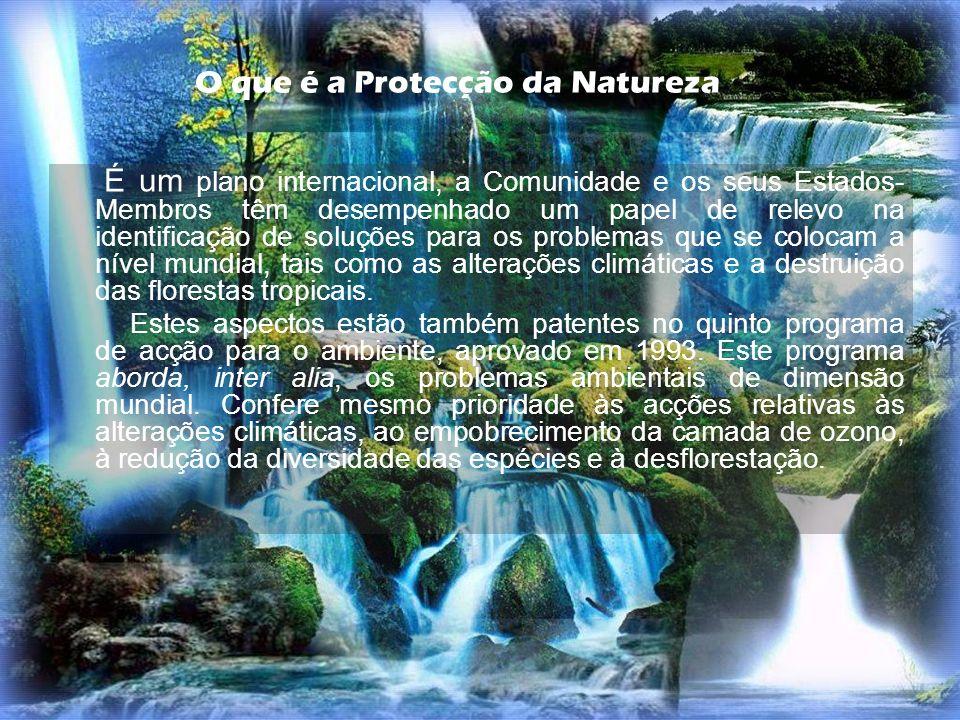 O que é a Protecção da Natureza