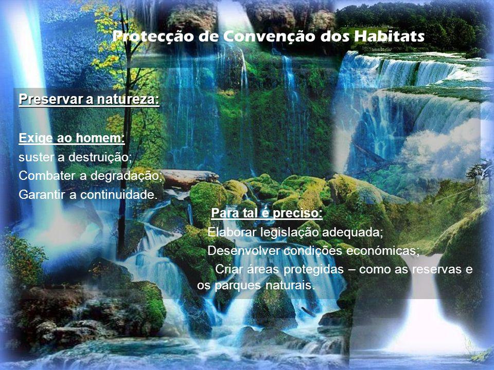 Protecção de Convenção dos Habitats