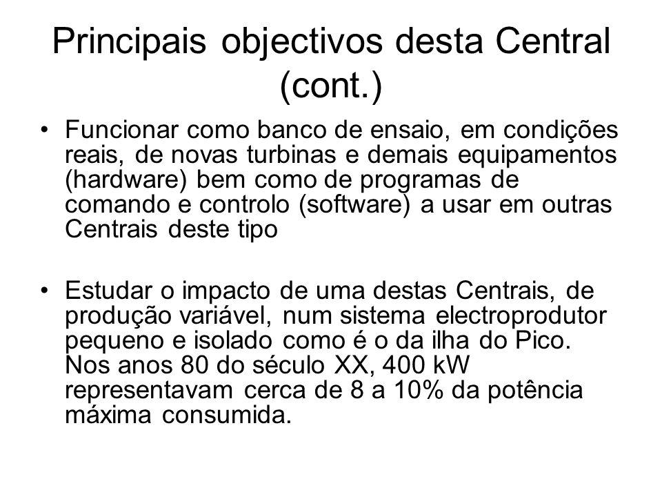 Principais objectivos desta Central (cont.)