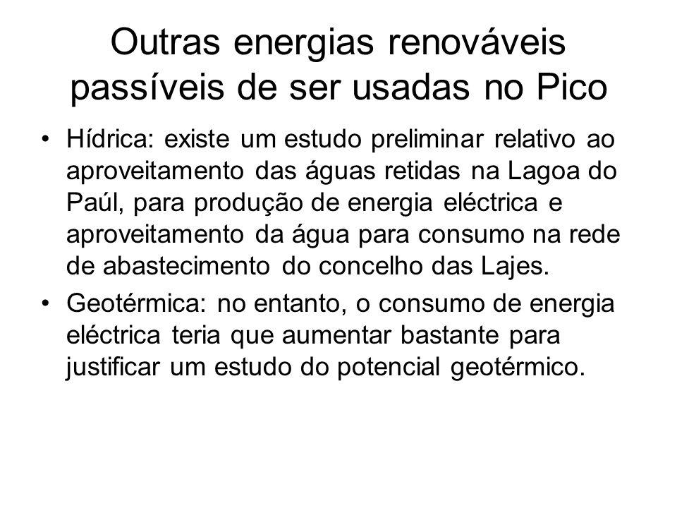 Outras energias renováveis passíveis de ser usadas no Pico