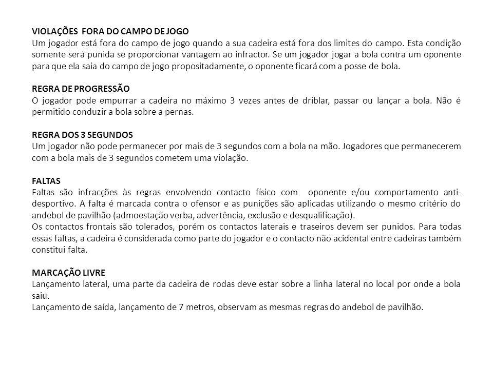 VIOLAÇÕES FORA DO CAMPO DE JOGO