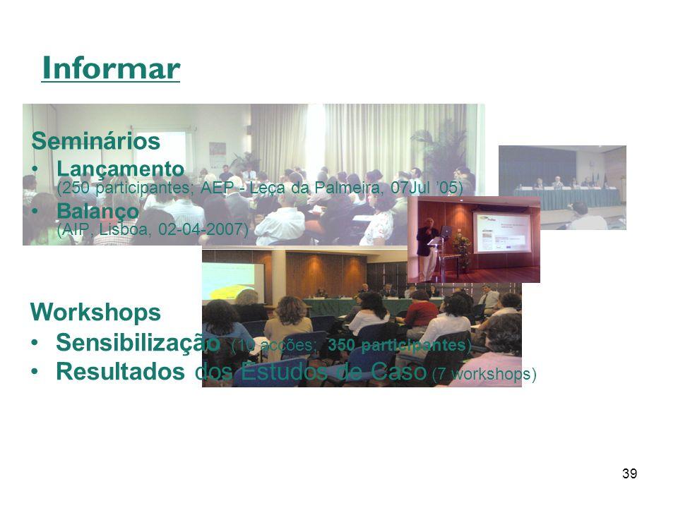Informar Seminários Workshops