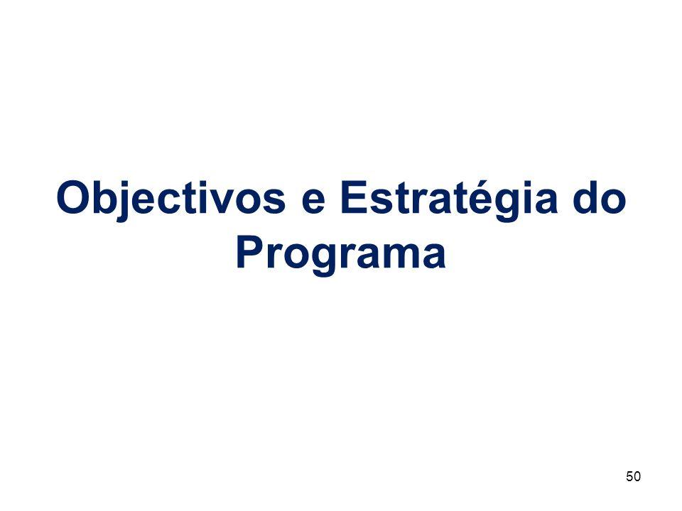 Objectivos e Estratégia do Programa