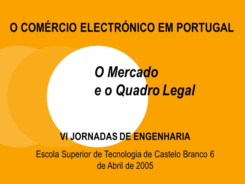 O Mercado e o Quadro Legal