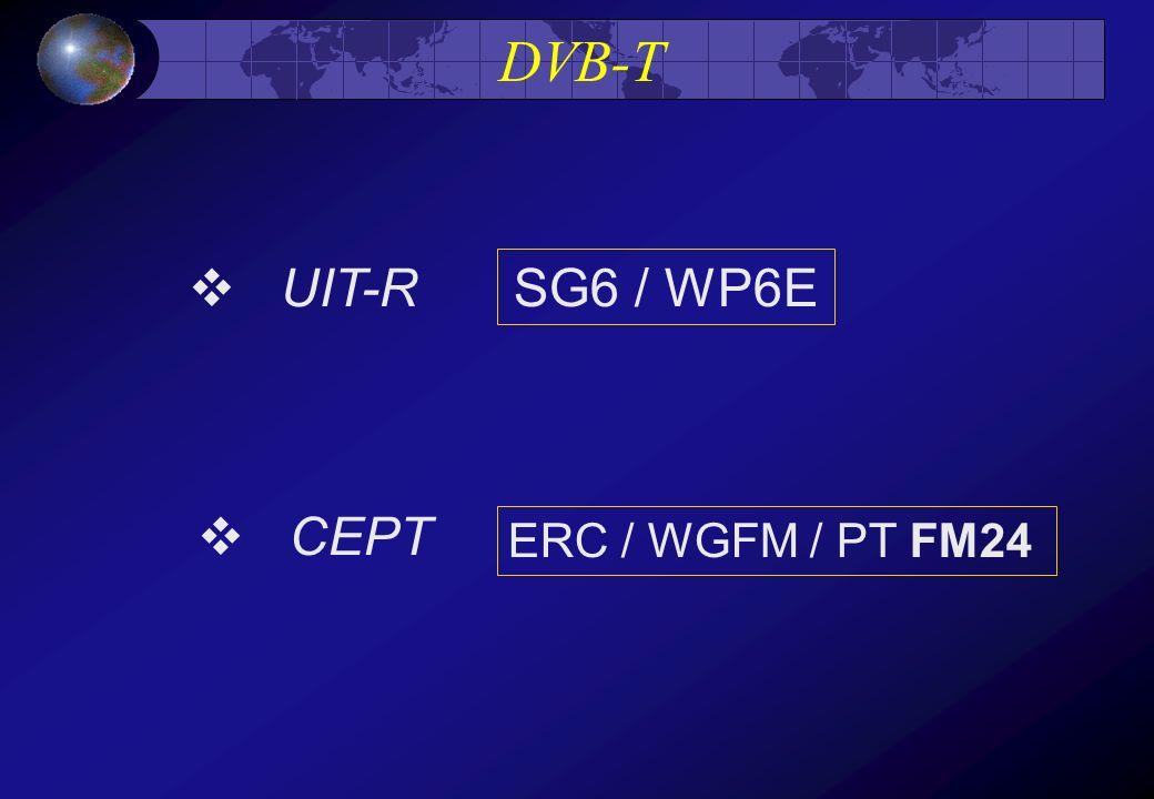 DVB-T UIT-R SG6 / WP6E CEPT ERC / WGFM / PT FM24