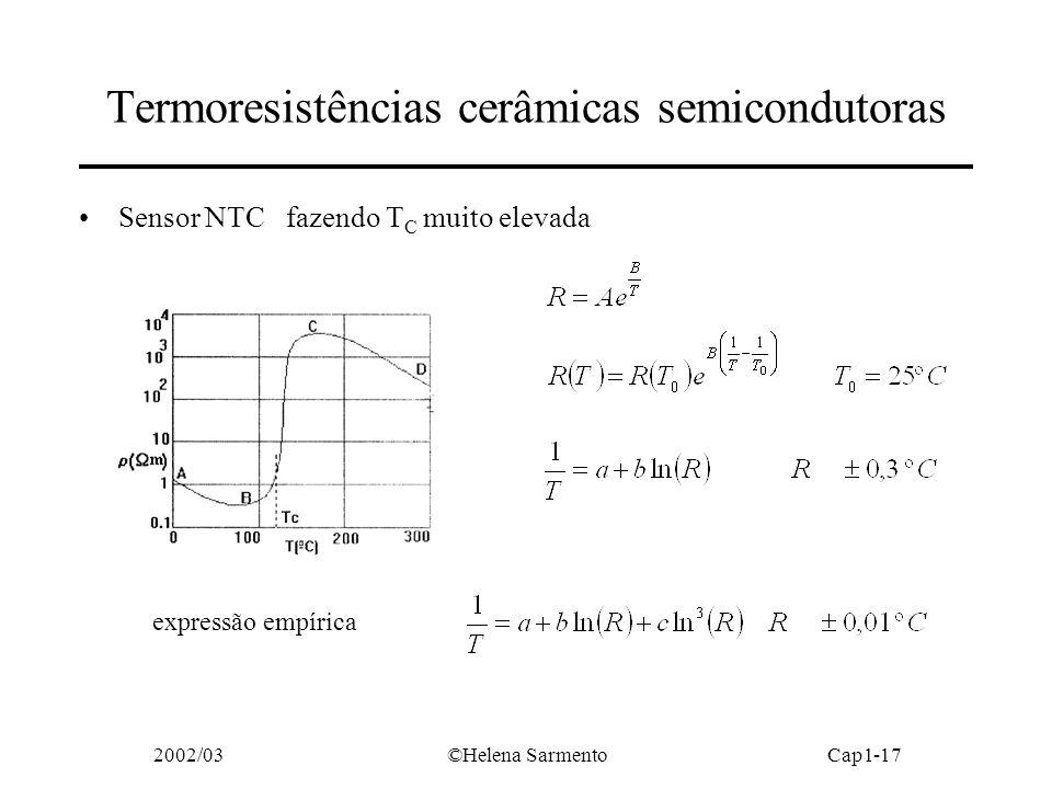 Termoresistências cerâmicas semicondutoras