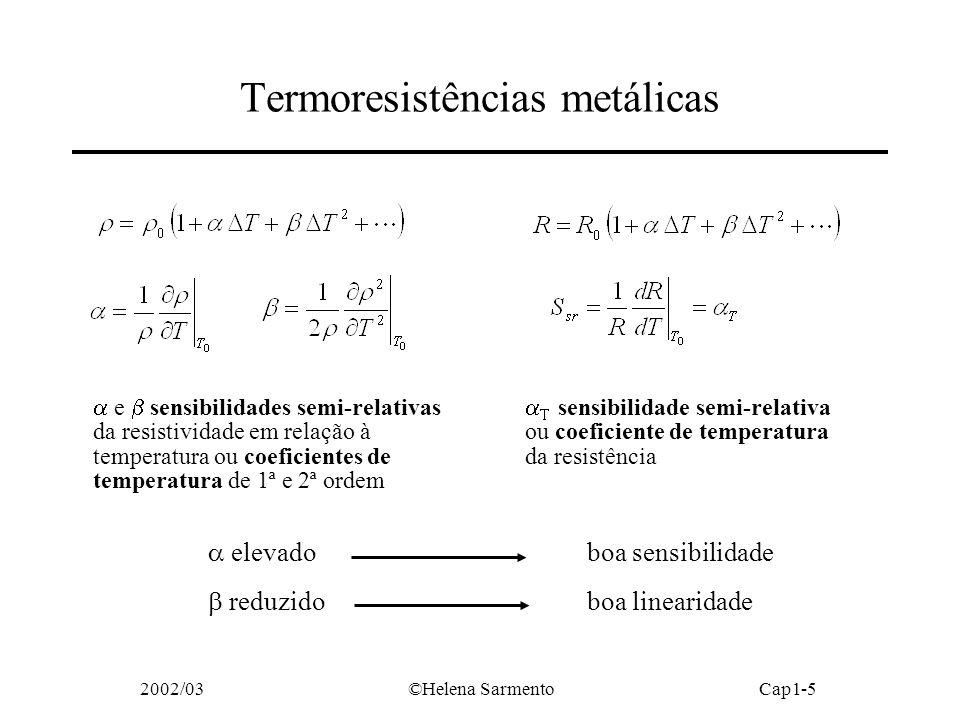 Termoresistências metálicas
