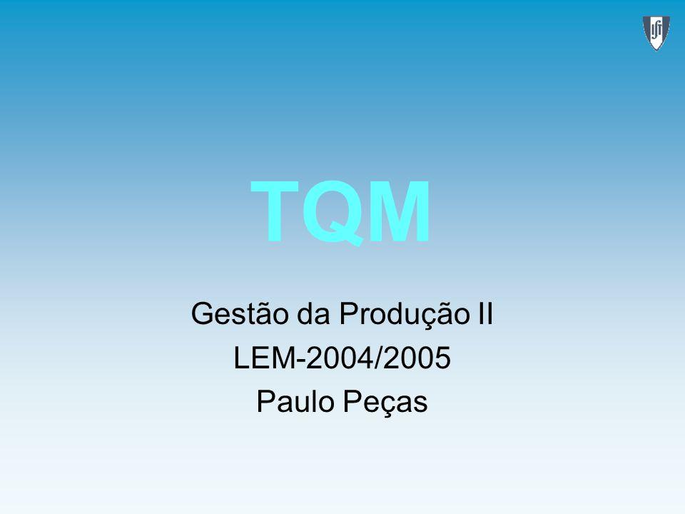 Gestão da Produção II LEM-2004/2005 Paulo Peças