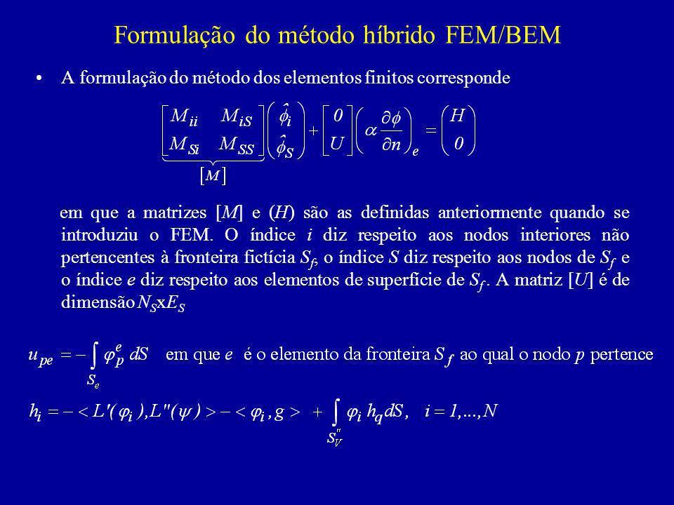 Formulação do método híbrido FEM/BEM