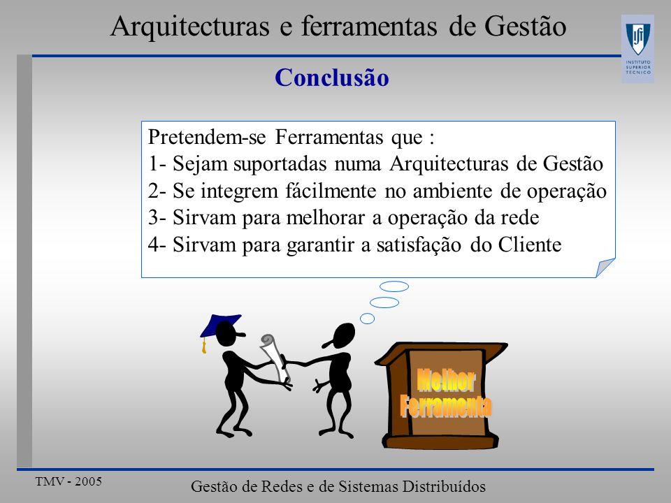 Arquitecturas e ferramentas de Gestão