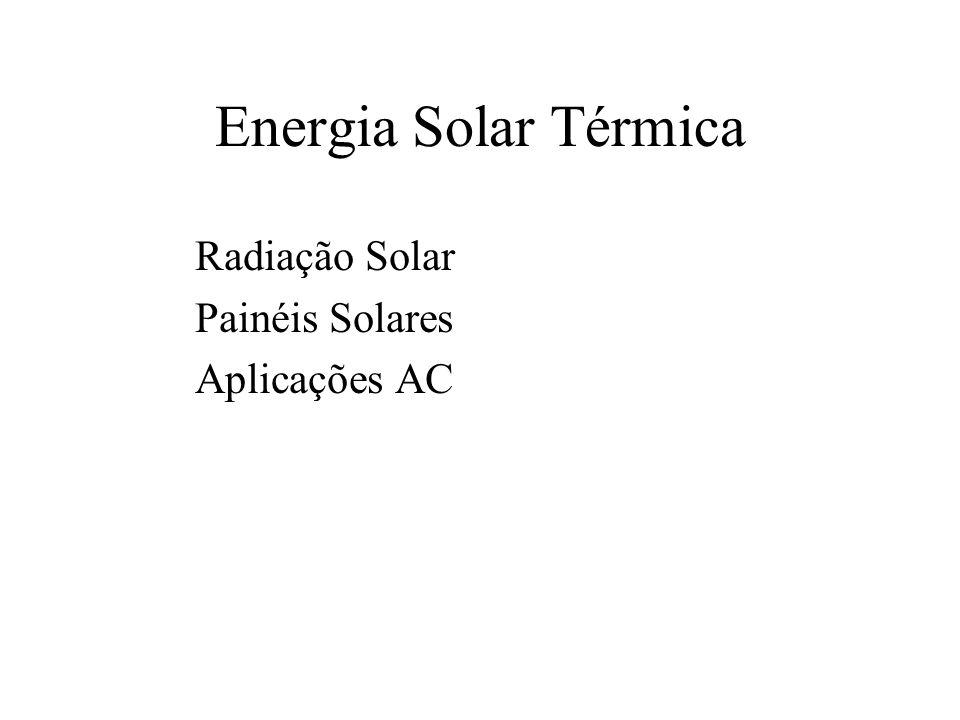 Energia Solar Térmica Radiação Solar Painéis Solares Aplicações AC