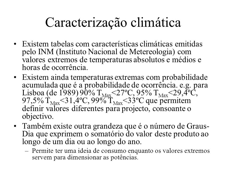 Caracterização climática