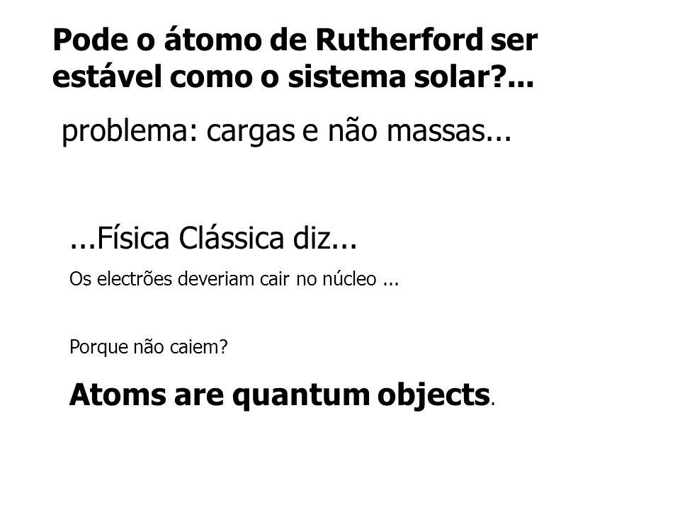 Pode o átomo de Rutherford ser estável como o sistema solar ...