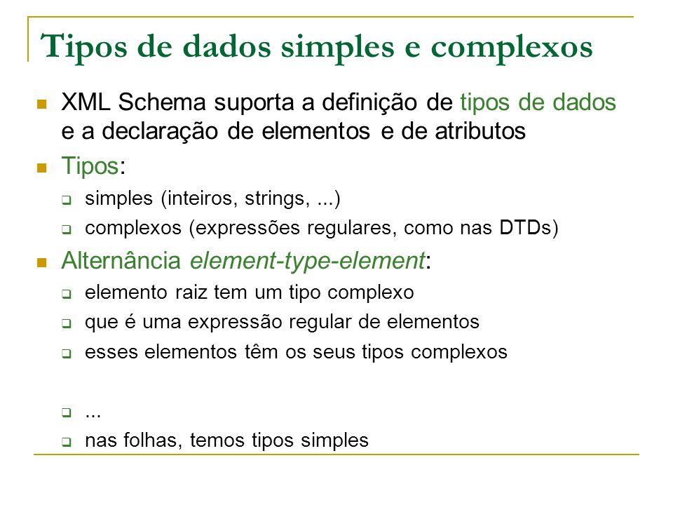 Tipos de dados simples e complexos