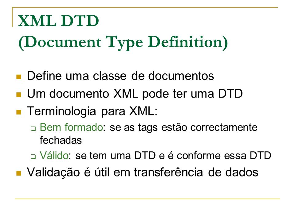 XML DTD (Document Type Definition)