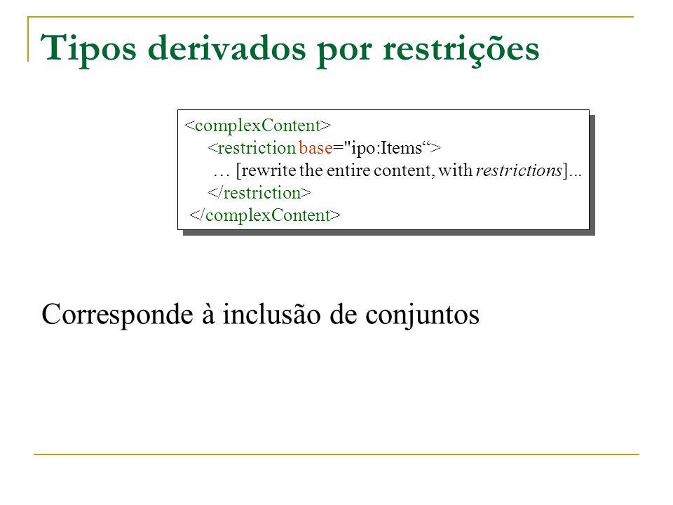 Tipos derivados por restrições