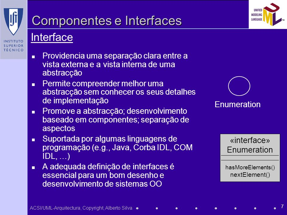 Componentes e Interfaces