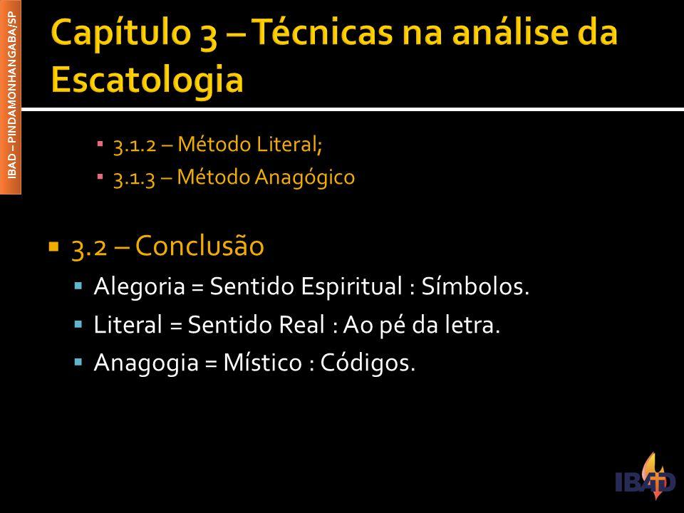 Capítulo 3 – Técnicas na análise da Escatologia